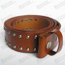 CEINTURE MARRON AVEC INSERTIONS DE CLOUS DE FORME RONDS
